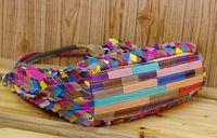 colorful handbags - High quality Colorful sheepskin handbags color stitching leather Handbags women handbags Colorful handbags High fashion bags