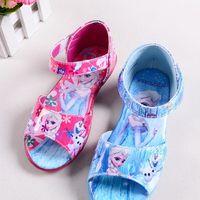 beautiful shoes - Hot Sale Girls Frozen Sandals Baby Girls Cartoon Sandals Girl Princess Sandals Kids Beautiful Fashion Shoes Children Blue Sandals