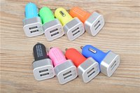 Wholesale High Quality Matte Feel Shell V A Dual usb Car Charger Adapter for iPhone Plus s c s Samsung s4 s5 Note Note DHL FREE
