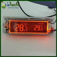 Wholesale New Arrival V V Digital Auto Car indoor and outdoor Thermometer temperature blue orange backlight AK