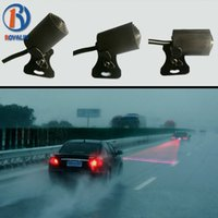 Wholesale Upgrade Anti Collision Rear end Car Laser Tail V LED Car Fog Light Auto Brake Parking Lamp Rear Car Warning Light Car Styling