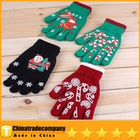Wholesale 2014 Christmas Party Gloves Special Decoration Gloves Knitting Christmas Santa Claus Gloves Acrylic Gloves