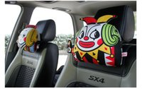 car pillow - Poker car headrest four characters J Q K and Clown express delivery Fluffy soft and comfortable