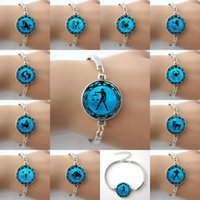 astrology capricorn - Zodiac Picture Blue Moon Alloy charm Bangle Bracelets Astrology Horoscope Jewelry Bracelets Aquarius Capricorn Sagittarius