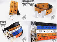 Wholesale 2015 NEW MCM Belt Cool Belts for Men and Women dress belts M Shape Metal strap Ceinture Buckle exo belt star belt