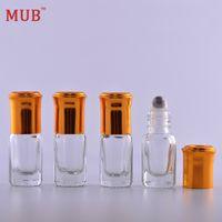 aluminum screen roll - 3ml pieces Aluminum Cap Essential Oil Roller Bottles With Metal Roll on Glass Bottle