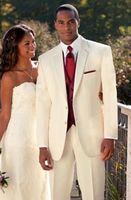 men dress suits - 2015 New Ivory Two Button Groom Tuxedo notch Lapel Formal Wedding Dress Groomsman Suit for Men Jacket Pants Vest Tie