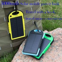 apple laptop battery charger - Portable mAh Solar Battery Panel external Charger Dual Charging Ports Defender Power BankFor Iphone Samsung Laptop Cellphone Retail box