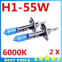 auto halogen bulbs - 2X Fog Lights Auto Car Led H1 Headlight Bulb Lamp V W Super White K Halogen Xenon Car Styling for Ford