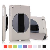 abs adjustable strap - for ipad mini rotating case degree pu leather pc with ABS back cover adjustable hand strap