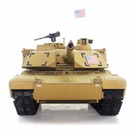 airsoft battle tanks - Ghz Radio RC US M1A2 Abrams Airsoft Battle Tank Upgrade Super Metal w Smoke Sound RTR