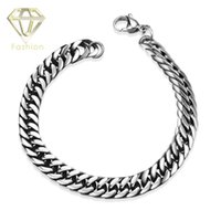 Charm Bracelets bicycle circle - Xmas Gift Punk Design L Stainless Steel Men Bracelets Classical Biker Bicycle Heavy Metal Link Chain Bracelet Jewelry for Men