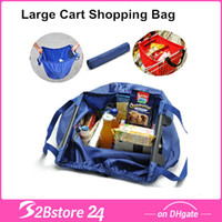 Wholesale Large Capacity Folding Cart Supermarket Shopping Bags of Environmental Protection