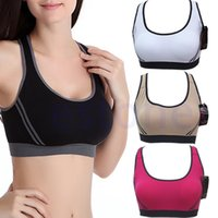 Wholesale New Women Fitness Stretch Workout Tank Top Seamless Racerback Padded Sports Bra
