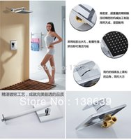 Wholesale Luxury quot Square Rainfall Shower Head Bathroom Rainfall Shower set Shower Vanity mixer tap faucet bathroom product AC313