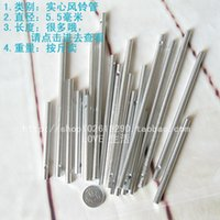 Wholesale Silver diameter mm solid wind chimes tube diy material solid color windbell accessories