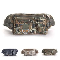 Wholesale New Arrival Canvas Waist Bags Men Women Outdoor Sport Casual Multipurpose Camouflage Shoulder Bags Travel Waist Packs ZA0119 salebags