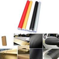 Wholesale New Stylish DIY x127cm D High Quality Carbon Fiber Decal Vinyl Film Wrap Roll Adhesive Car Sticker Sheet Wrap Colours