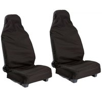 car seat covers - 2pcs Front Universal Waterproof Nylon Car Van Auto Vehicle Seat Cover Protector