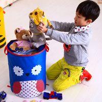 bee dog toy - 2016 New Cartoon Owl Bee Blue Dog Monkey Animal Foldable Clothes Toy Laundry Baskets Bin Storage Bag Mesh Storage Basket bmh9