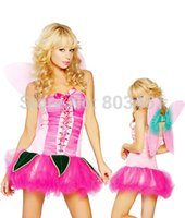 adult pixie costume - sexy Women Party Costume Adult Costume Pretty Pink Pixie