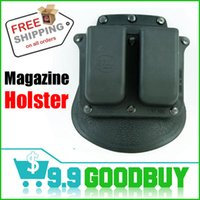 Cheap Wholesale-6900 Tactical Holsters Double Magazine Paddle Pouch for glock M&P 9mm .40 cal Bag,Free Shipping goodbuy