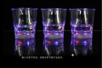 acrylic beer glass - 2015 new arrival high quality Acrylic angles LED water glass colors flashing cup LED cup KTV BAR wine glass