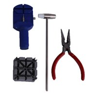 Wholesale 16pcs Deluxe Watch Back Case Opener Tool Kit Repair Link Remover Watchmaker fb