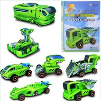 Wholesale New creative Qihe changing equipment solar rechargeable children s educational toy car DIY DIY
