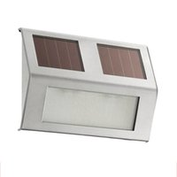 Wholesale Stainless Steel Solar Light Outdoor Garden Wall lamp Lobby Pathway Stair Lamp BA040