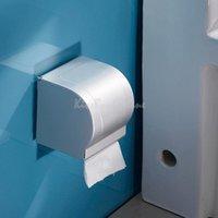 Wholesale Space Aluminum Toilet Paper Holder Roll Tissue Case with Cover Dispenser K5BO