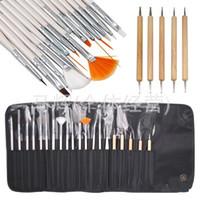 Wholesale 20pcs set Nail Art Design Nail Salon Painting Dotting Pen Brushes Tool Kit Nail Art Design Painting Draw Dotting Pen with Case Set