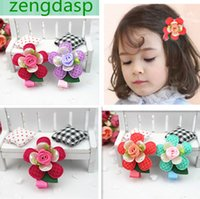 Cheap 20pcs lot, Baby colorful flower hair clips Girls hair Barrettes accessorie hair clips mixed orders .