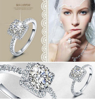 arrow stone - Top Grade Silver Rings Hot Sale Inlay CZ diamond Hearts and Arrows Finger Ring for Wedding Party Jewelry WR