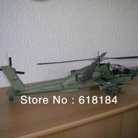 apache crafts - Free shipment Paper Model Gunship diy toys cm long US AH Apache Armed helicopters d puzzles military paper crafts