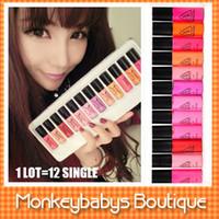 Wholesale 2014 New Fashion Women s Lipgloss colors PACK mini lipstick makeup set Rouge Red lip gloss cosmetic gift JM002