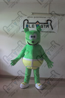 gummy bear - POLE STAR MASCOT COSTUMES green bear mascot costumes with yellow pants gummy