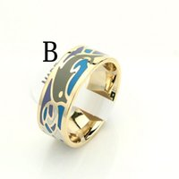 amazing dolphins - Promotions Hot Selling cm Width Gold Amazing Dolphin Sea Pattern Enamel Jewelry Ring aneis MR12