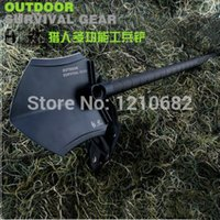 Wholesale HX Outdoors steel Multi function Camping Fishing Shovel Survival Trowel Dibble Pick Outdoor tool GBC