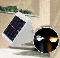Wholesale Waterproof LED Solar LightSolar Led Flood Lights LEDs Garden Lights Outdoor Landscape Lawn Lamp Solar Wall Lamps Step Light