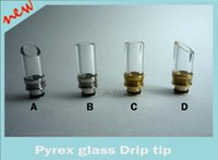 Wholesale Pyrex glass Stainless Steel or brass metal Muffler flat ring drip tip Wide Bore Atomizer Mouthpieces tips