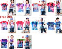 frozen tshirt - 10 Colors Baby Kids Summer Short Tshirt Froze Fever Boys Girls Top Tees Baby Kids Clothes DHL Shipping