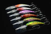 Wholesale 5pcs a cm g Minnow Fishing Lures Hard Bait Plastic Laser Pesca Isca Artificial Fish Fishing Tackle