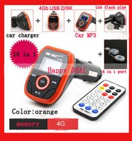 Wholesale Car MP3 Player GB Car charger Wireless FM Transmitter With quot LCD Screen Remote Controller USB SD Slot AY