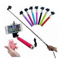 Wholesale SGpost Extendable Handheld Self portrait Monopod selfie stick Photo Bluetooth Shutter Camera Remote Control monpod shutter clip