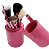 Wholesale Professional Makeup Brushes Barrel Suit Brush Set Color Cosmetics Foundation Brushes Wooden Tool Makeup Brushes