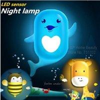 Wholesale Led sensor night lamp Home decoration Nightlight dolphin honeybee animal Light Lights creative life Novelty households