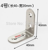 Wholesale 10pcs Thickened mm Size inch stainless steel satin finish angle Corner bracket L shape frame board support