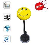 Wholesale Color Smile Face Badge mini DV Hidden Camera Digital Video Recorder Realtime Mini SD Card DVR Camcorder
