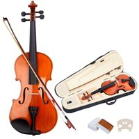 Wholesale New Full Size Natural Acoustic Violin Fiddle with Case Bow